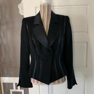 Escada Satin Stripe Wool Blazer size Medium/8